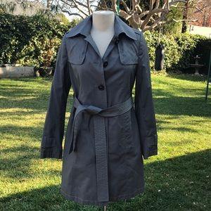 DKNY gray lined Trench coat sz. S